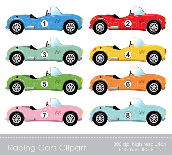 digital clipart race cars clip art for scrapbooking rh etsy com race car clip art images race car clip art png